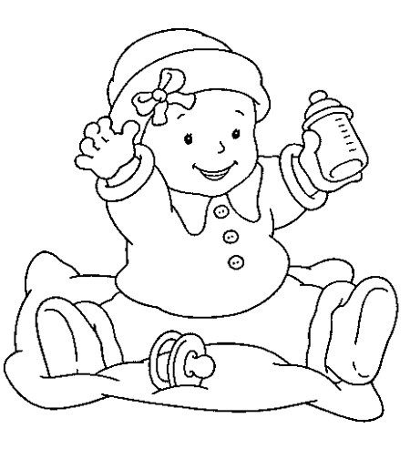 Coloring Picture Of A Baby Bottle