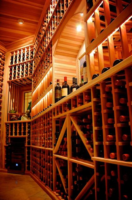 Heritage Vine Custom Wine Cellar Illuminated Using Inspired Led
