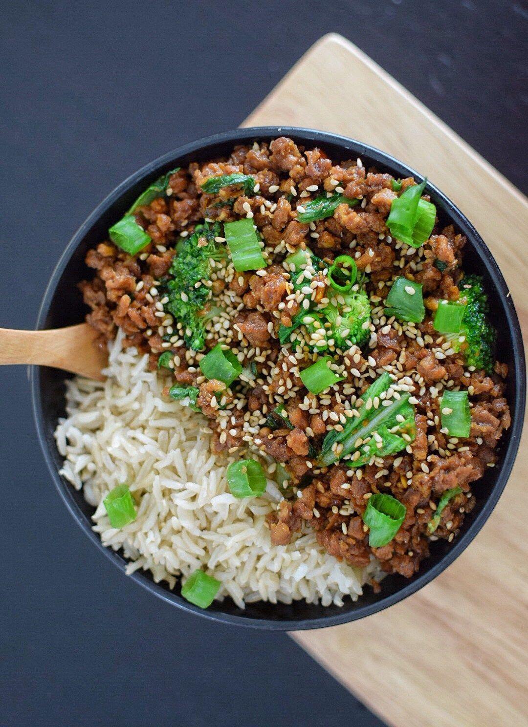 Vegan Korean Ginger Beef Low Fodmap Gluten Free Low Fodmap Recipes Dinner Fodmap Recipes Dinner Fodmap Lunch
