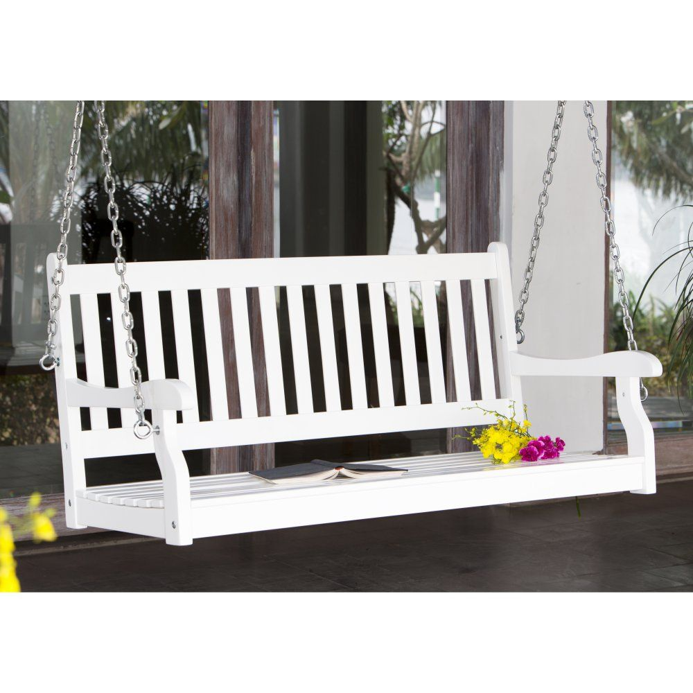 Coral coast pleasant bay traditionalback porch swing with optional
