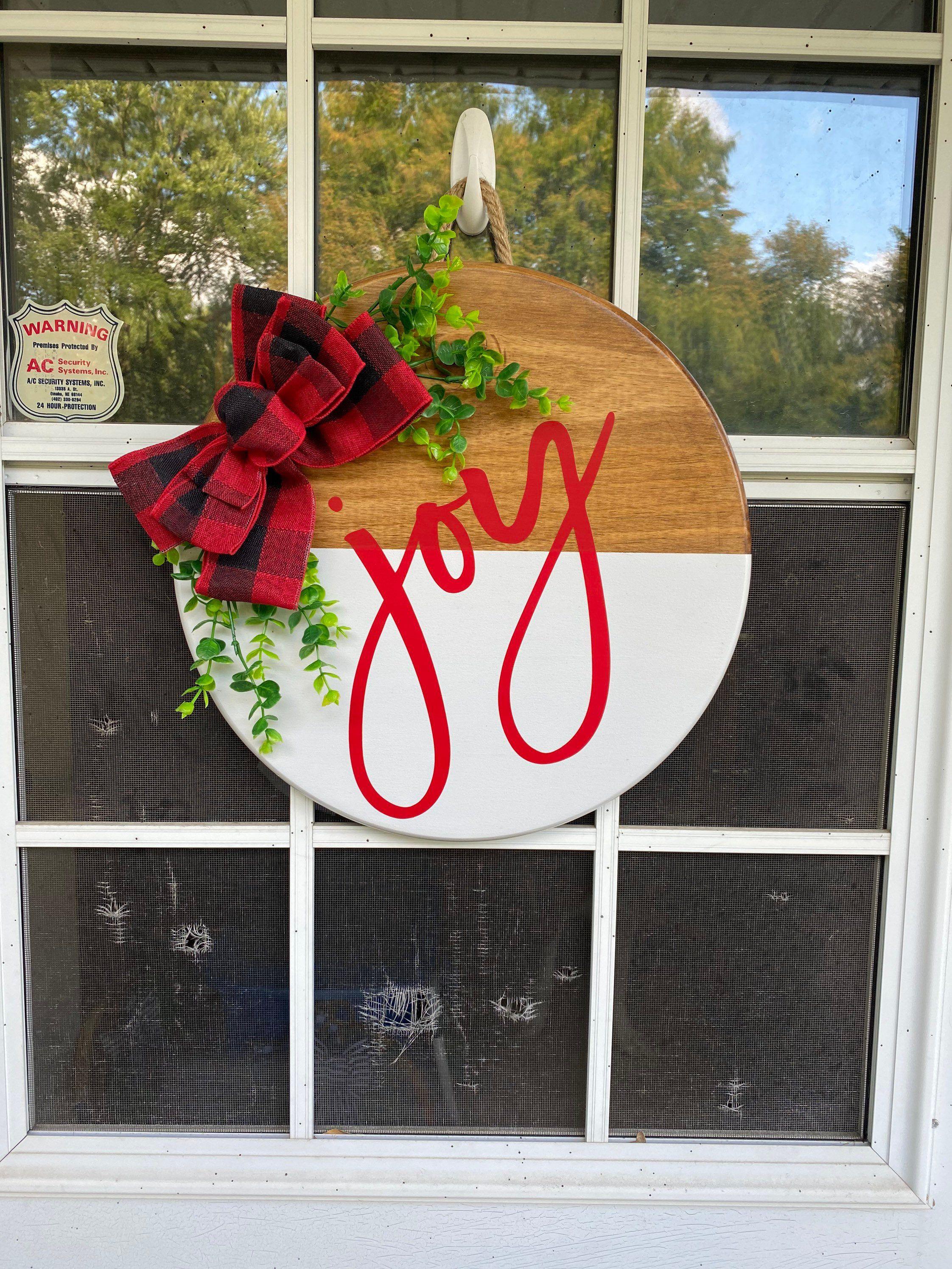 Christmas Wood Door Hanger Holiday Door Sign Christmas Etsy In 2020 Christmas Door Hanger Christmas Wood Door Signs Diy