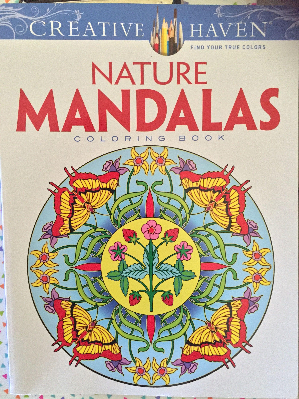 Creative Haven Nature Mandalas Coloring BooksColouringBook