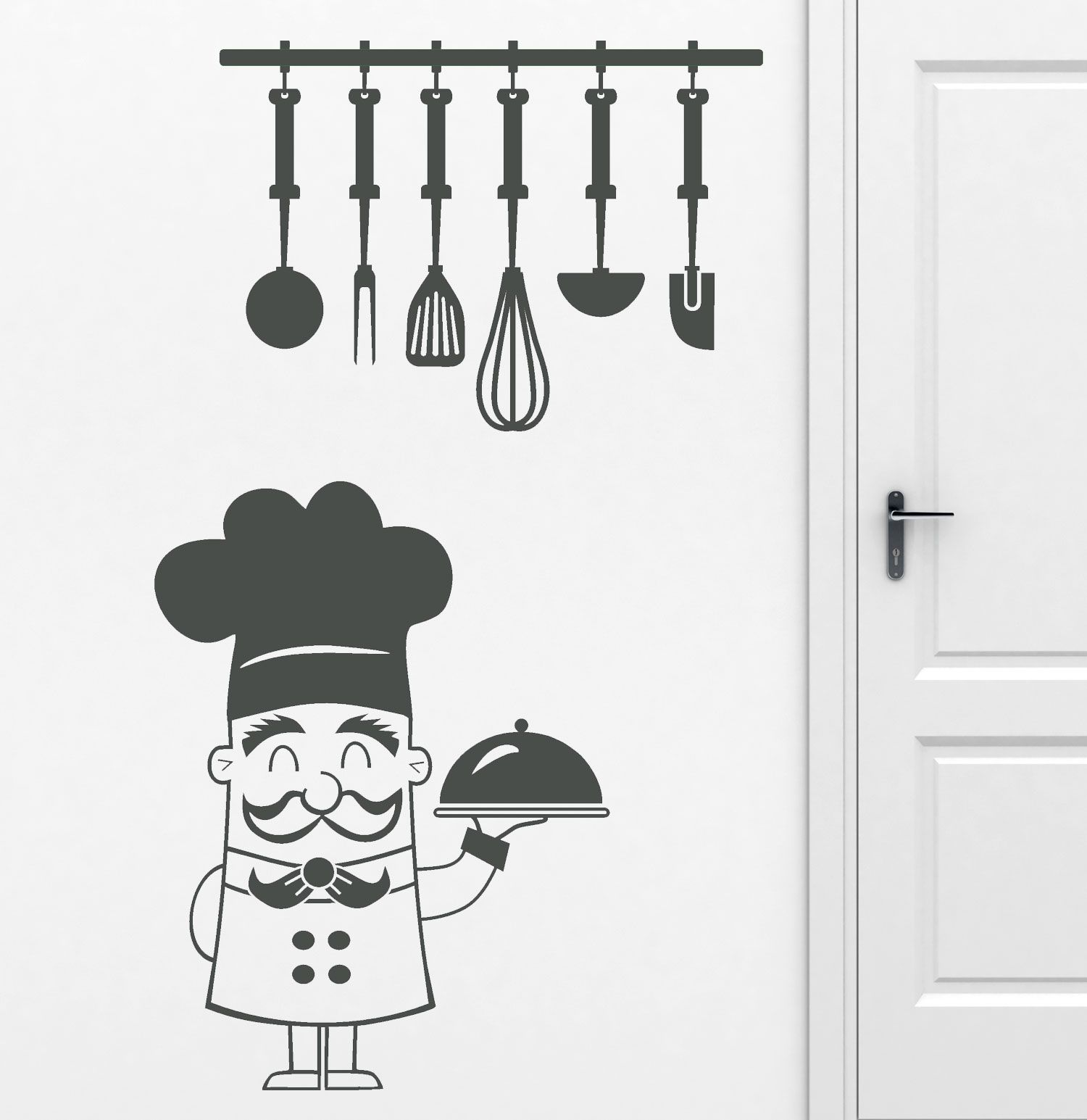 Vinilo decorativo para la pared la puerta de la cocina o for Vinilos de cocina