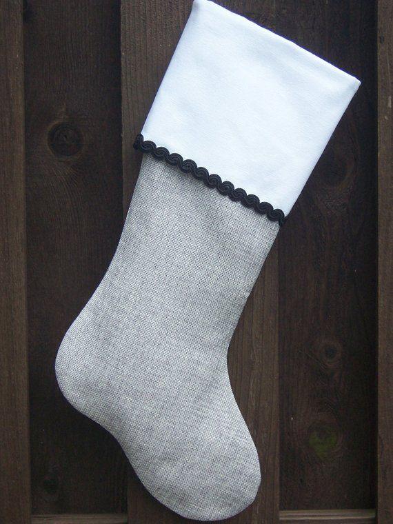 Gray Black White Christmas Stocking 308 Holidays Pinterest