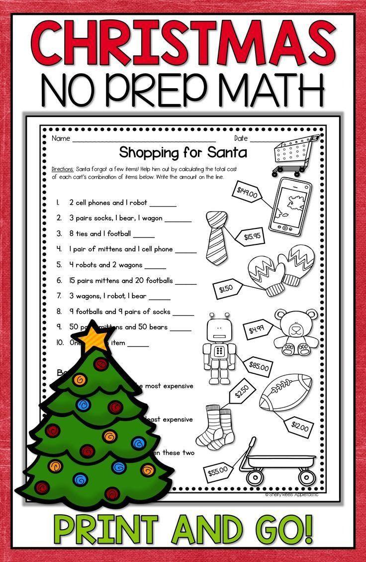 3rd Grade Christmas Worksheets Christmas Math Worksheets In 2020 Christmas Math Activities Christmas Math Christmas Worksheets