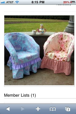 plastic resin chairs chair covers for lifetime folding shabby chic slipcovers those or maybe it s wicker i wish could take credit sewing this love