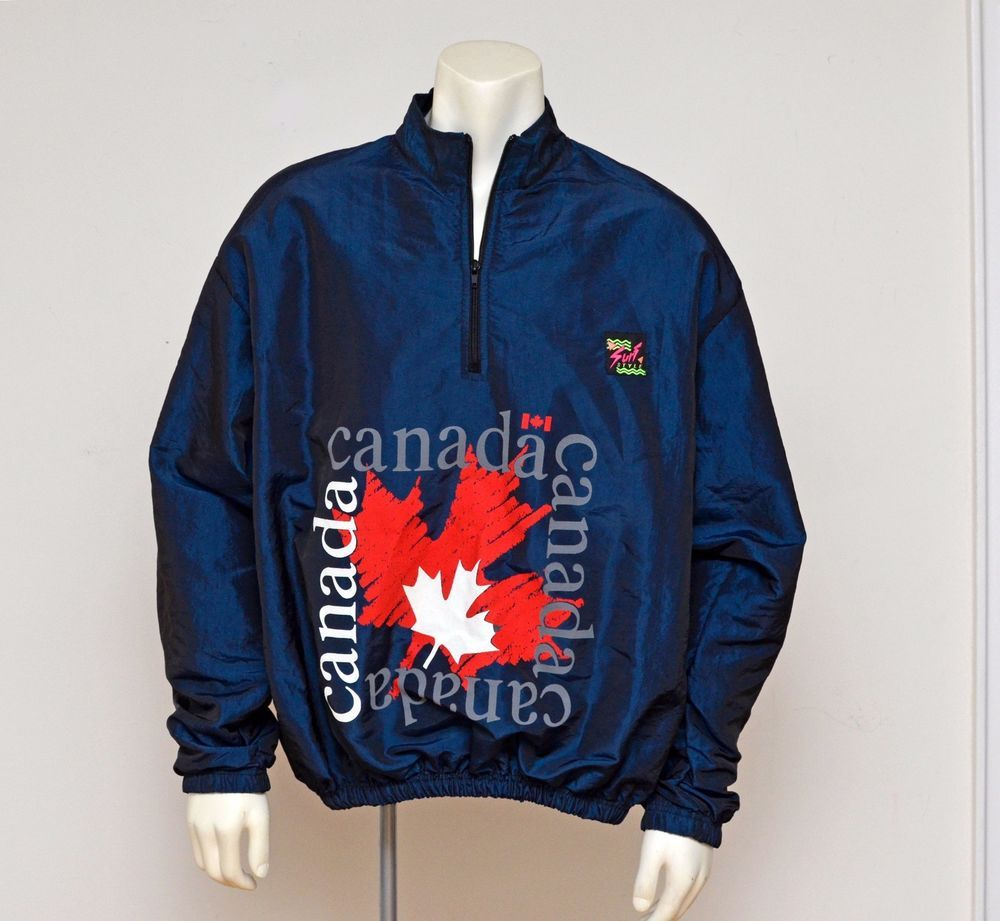 Vtg 80s 90s SurfStyle Canada Iridescent Pullover Windbreaker ...