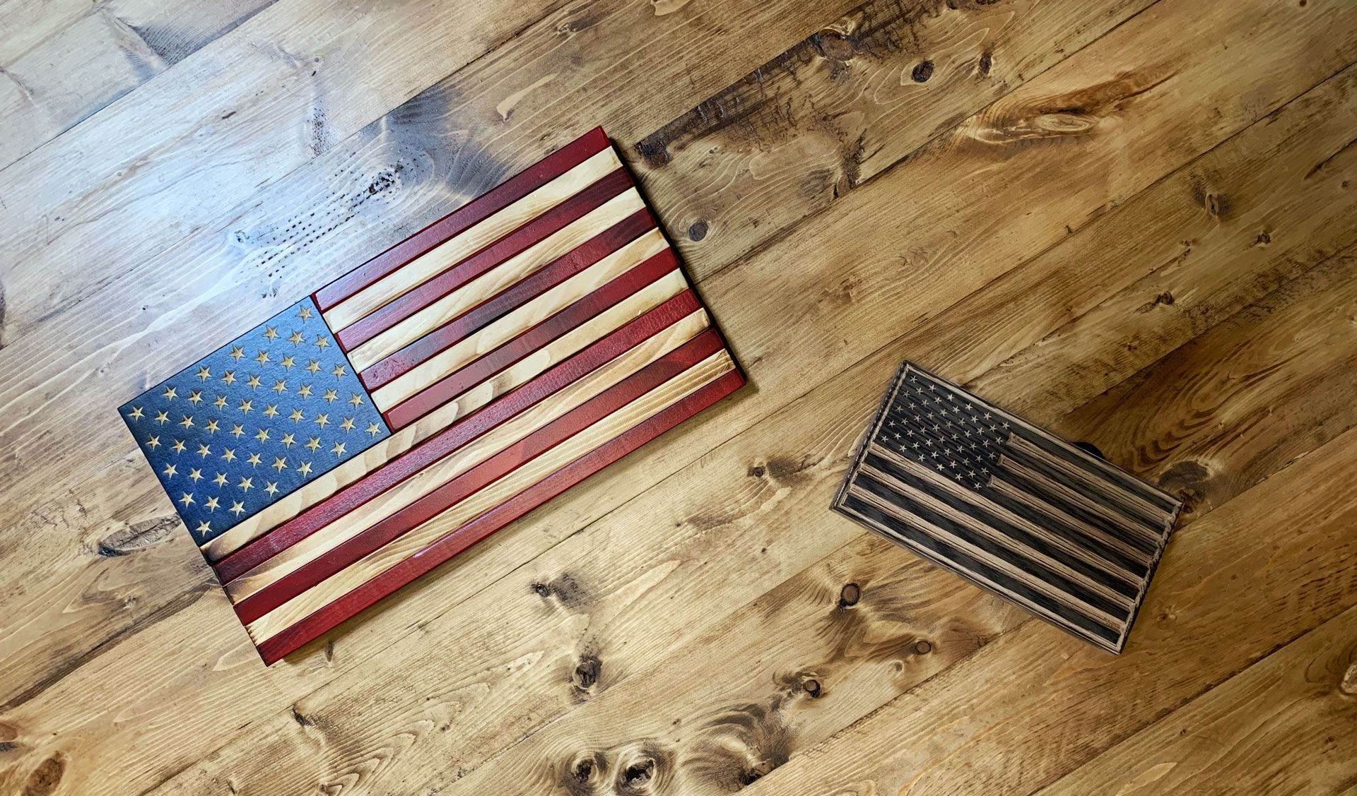 The Office Collection For When A Full Size Flag Doesn T Fit These Small Flags Are Perfec Wooden American Flag Decor Wooden American Flag American Flag Decor