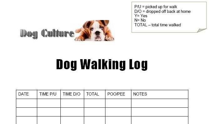 Free Dog Walking Log I Decided I Wanted To Get My Dog More Active