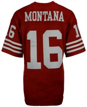 super cute 46bbd 1274b Mitchell & Ness Men Joe Montana San Francisco 49ers Replica ...
