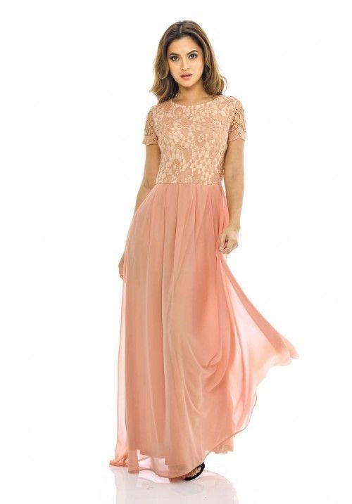 e53a41c3fd Blush 2 in 1 Crochet Top Maxi Dress. AxParis AX Paris Women s 2 In 1 Crochet  Top Maxi Dress at Amazon Women s Clothing store