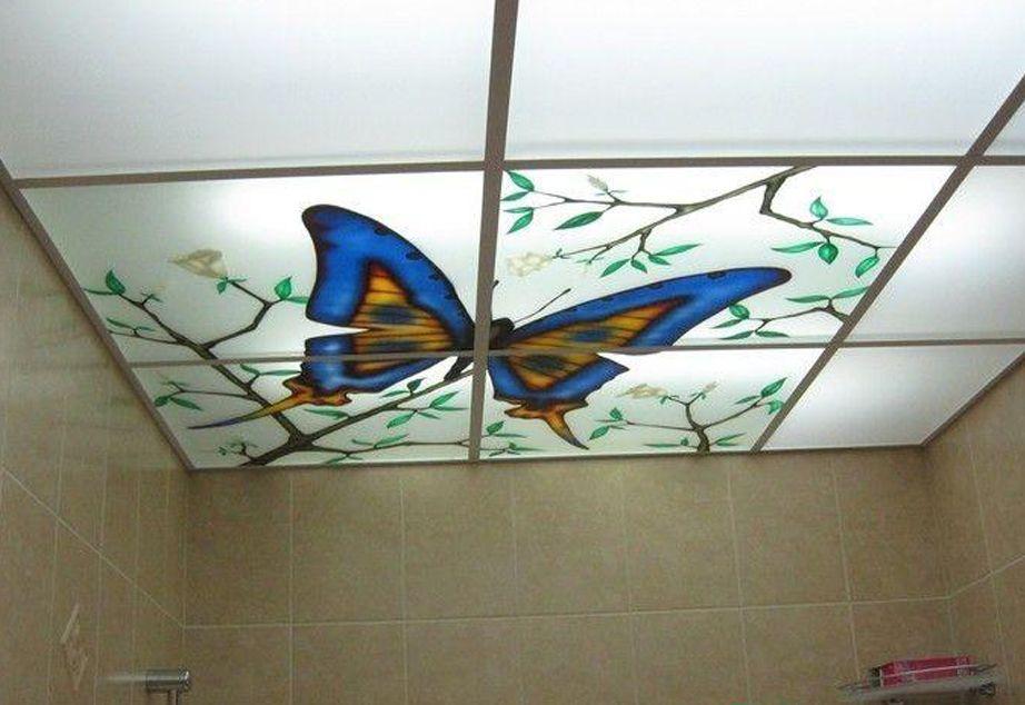 Custom Design Printed On Acrylic Plexiglass Ceiling Panels With The
