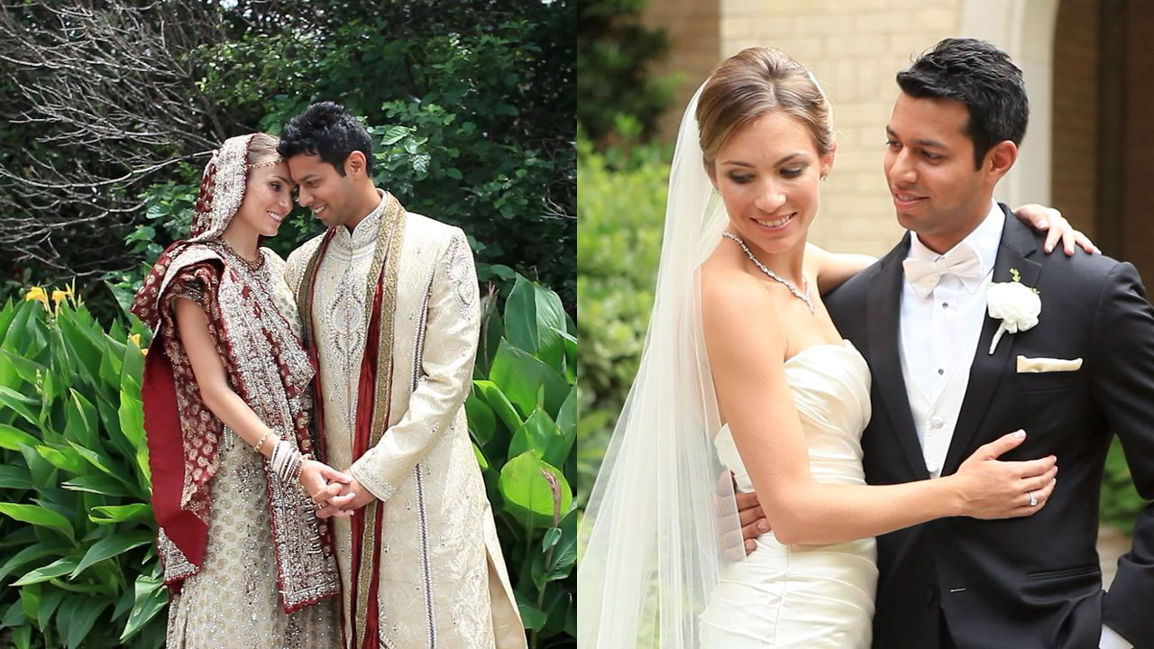 The Perfect Mix Of Indian And American Cultures In A Wedding This