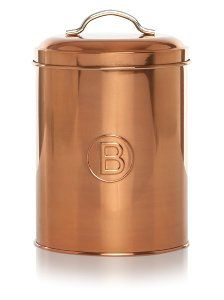 Buy George Home Copper Biscuits Canister From Our Kitchen Storage