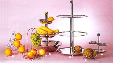 Этажерка для десерта металлическая трехъярусная