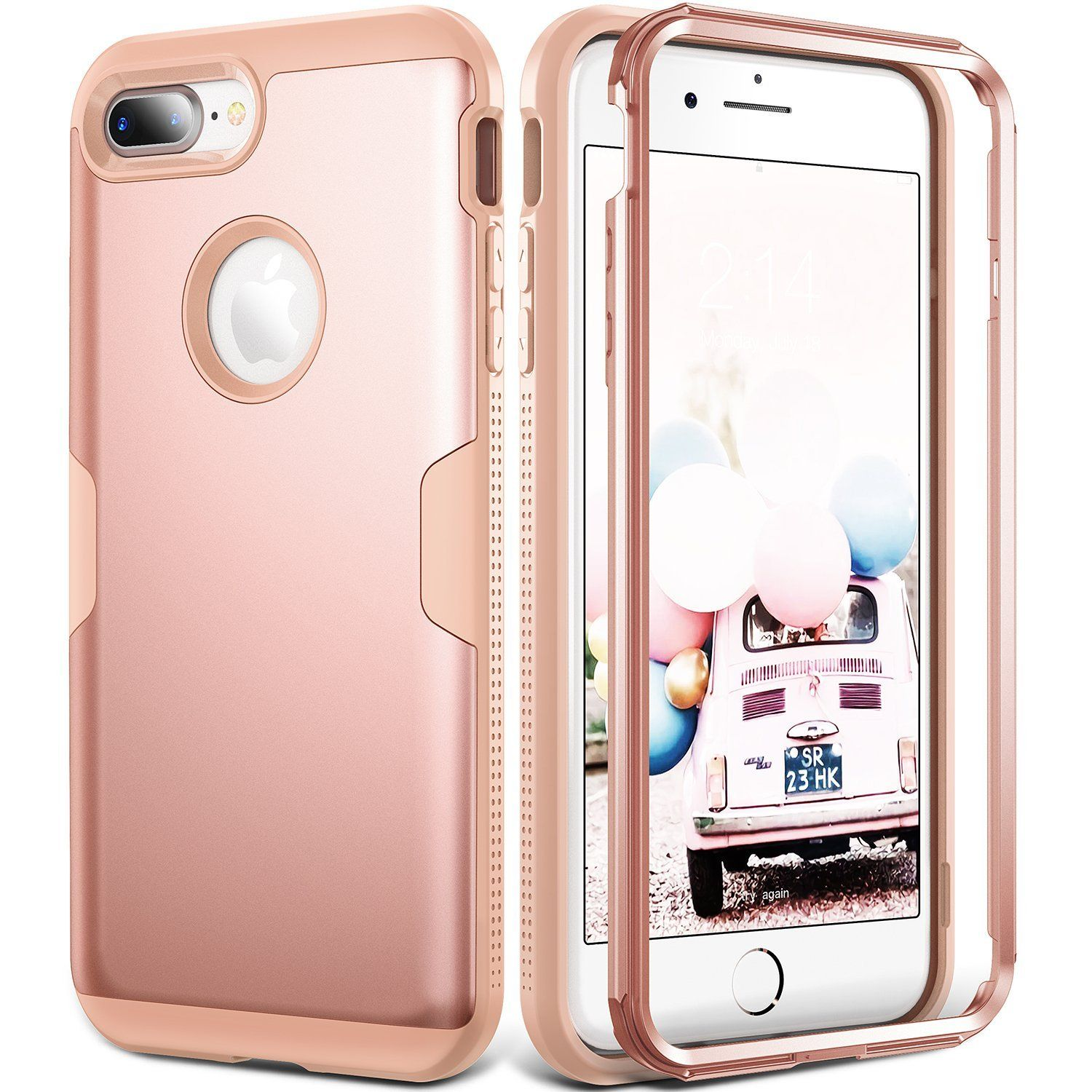 Iphone 8 Plus Case Iphone 7 Plus Case Youmaker Rose Gold Full Body Heavy Duty Protection Shockproof Case Cover For A Iphone 7 Plus Cases Iphone Iphone 8 Plus