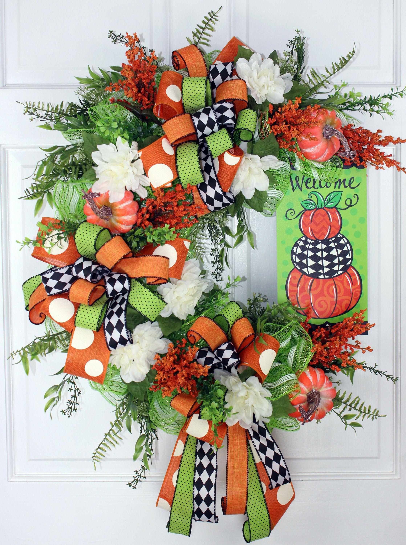 Fall Wreath, Halloween Wreath, Fall Decor, Autumn Wreath, Fall Grapevine