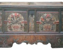 Mobili dipinti ~ Mobili tirolesi cassapanche credenze e armadi dipinti entrate