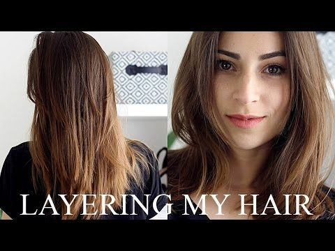 Layering My Hair At Home Fashiondesire Youtube Hair Style