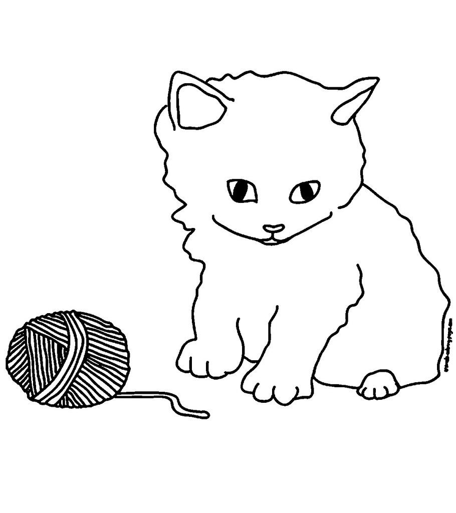 Top 15 Free Printable Kitten Coloring Pages Online в 2020 г