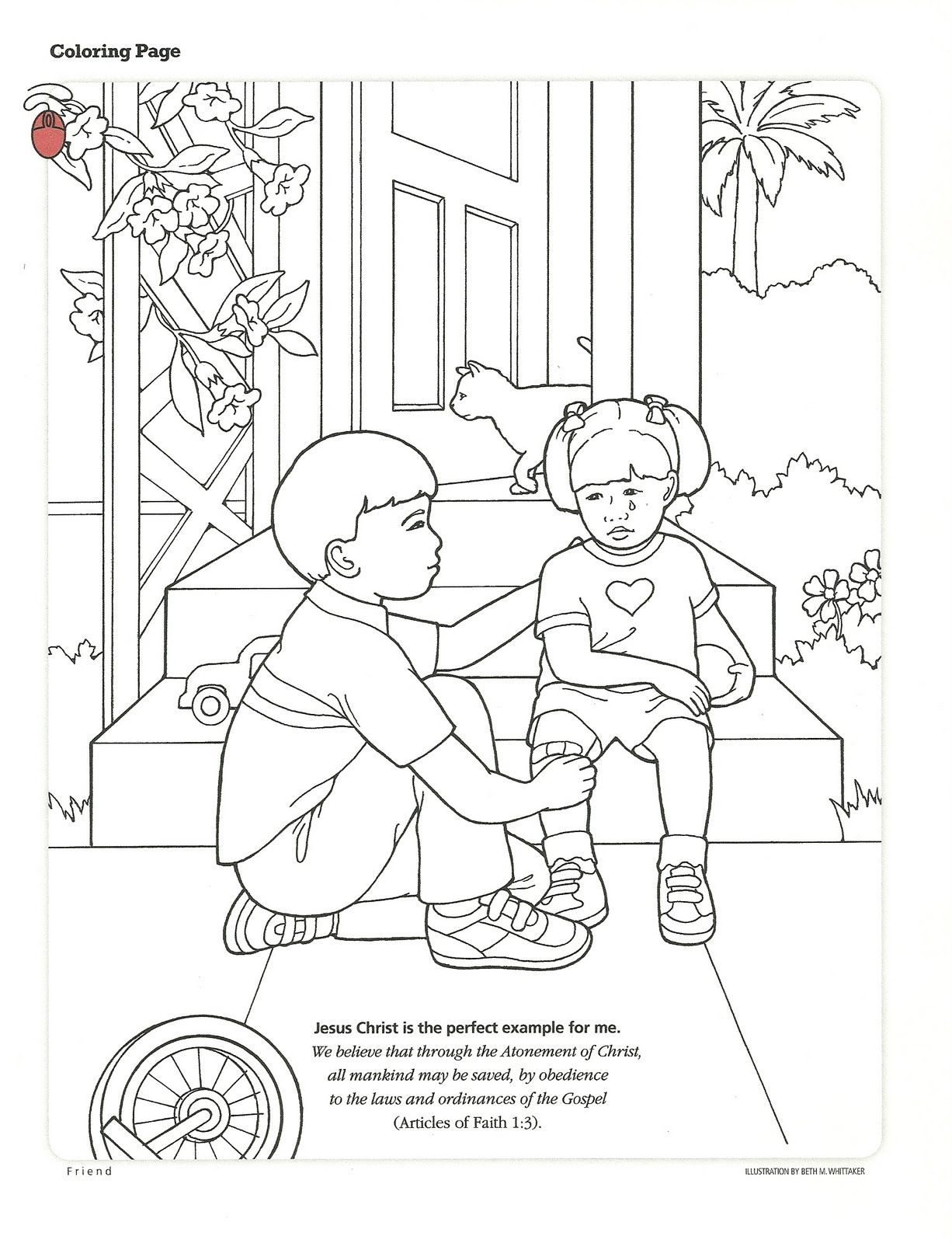 Lds Primary Coloring Pages Activity From The Friend September