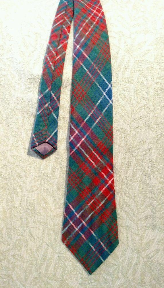 Mens Clan Tie Made in Scotland Sinclair Ancient Tartan