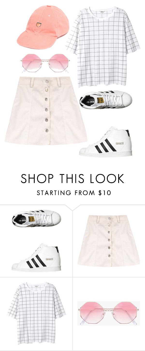 """""""otd #194"""" by wilczek ❤ liked on Polyvore featuring adidas Originals, Monki, Boohoo and UNIF"""