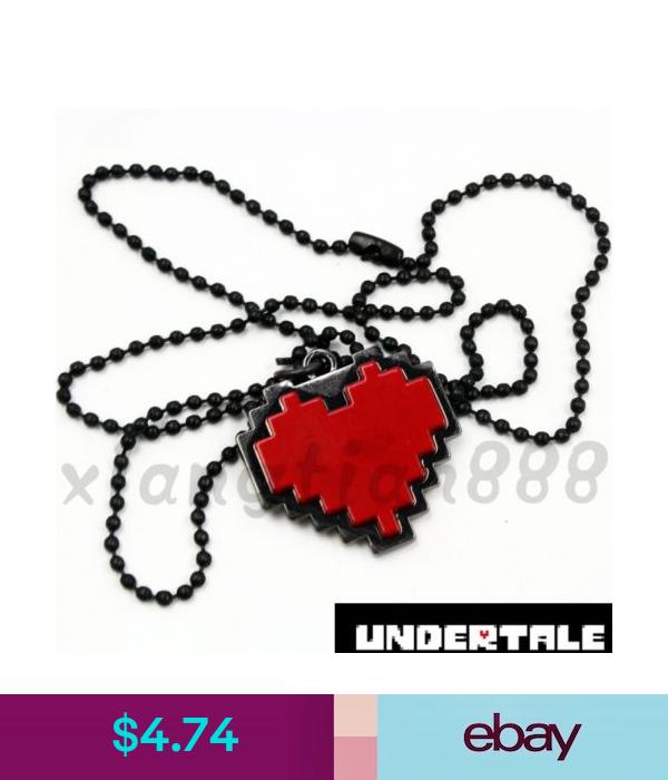 1pcs Anime Undertale Red Heart Necklace Pendant Cosplay Costume Otaku Ebay Fashion Red Heart Necklace Heart Pendant Necklace Anime Undertale
