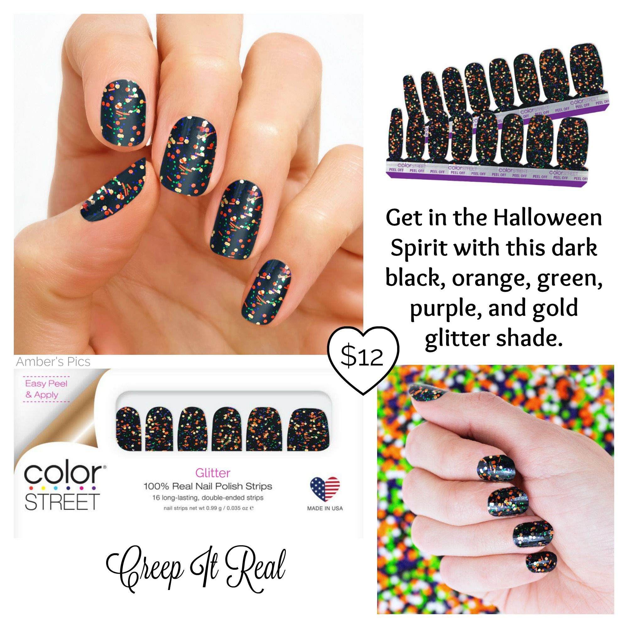 Creep It Real Color Street Nails Halloween Nail Designs Color Street