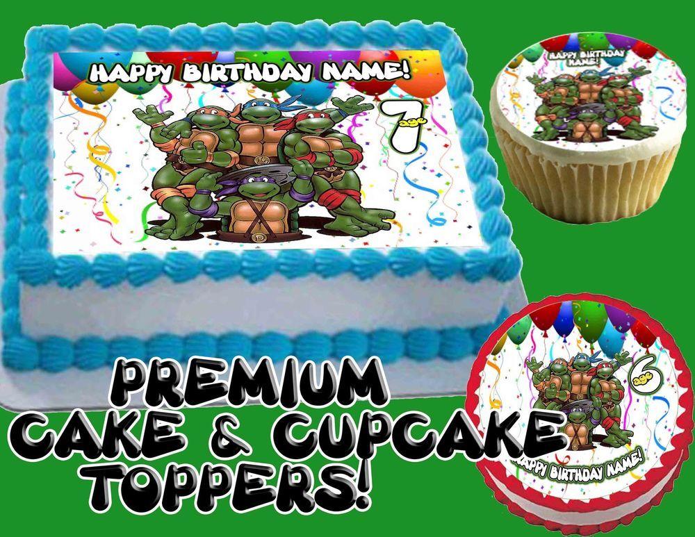 Details about Teenage Mutant Ninja Turtles Edible Cake Cupcakes