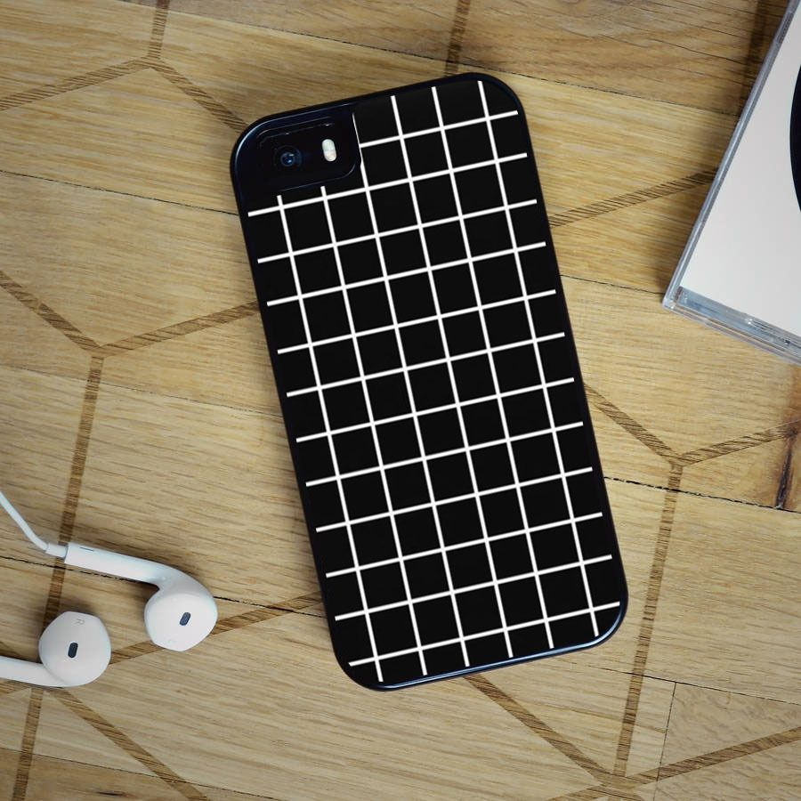 Black Tumblr Grid iPhone 4, iPhone 5 5S 5C, iPhone 6