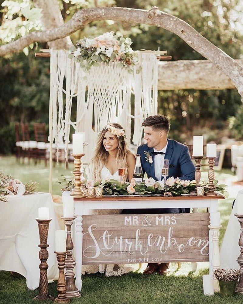 Farm Fresh 25 New Ideas For A Rustic Chic Wedding Ruffled Country Chic Wedding Bohemian Chic Weddings Macrame Wedding Backdrop