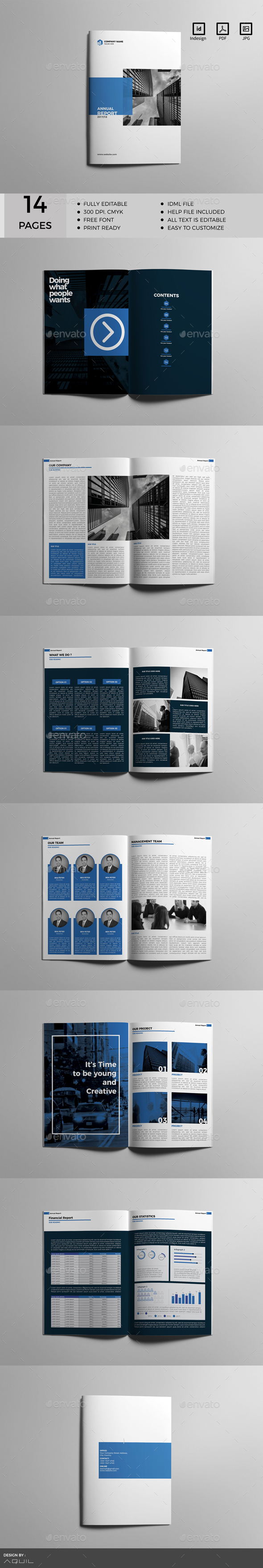 Annual Report Template InDesign INDD   Annual Report Designs   Pinterest