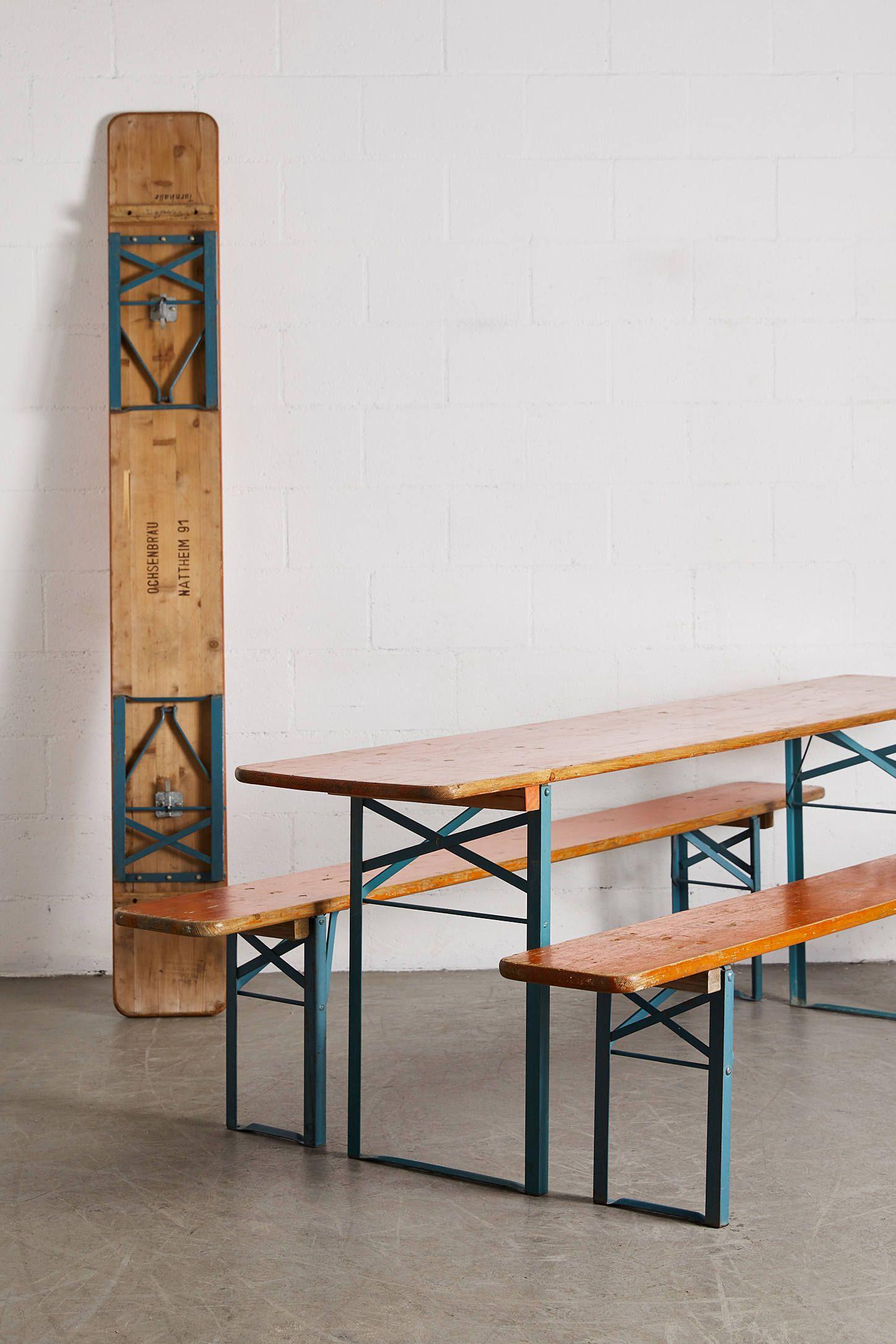 Urban Renewal Vintage Beer Garden Picnic Table Bench Set With Images Picnic Table Bench Bench Table Garden Picnic