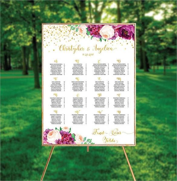 Wedding Seating Chart Template | Wedding seating, Wedding and ...