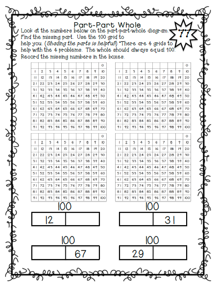 100 activities with the 100 grid!  Patterns, problem solving, analytical thinking, basic operations, fractions, missing numbers, rounding, percents, counting and making change, missing addends, and much more!  $