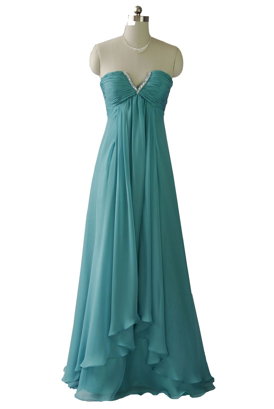 Qpid Showgirl Aqua Green Strapless Maxi Gown Evening Dress Prom ...