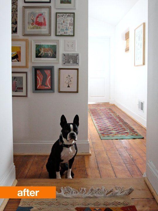 Before After Blank Slate Hallway White Hallway Hallway Inspiration Hallway Flooring