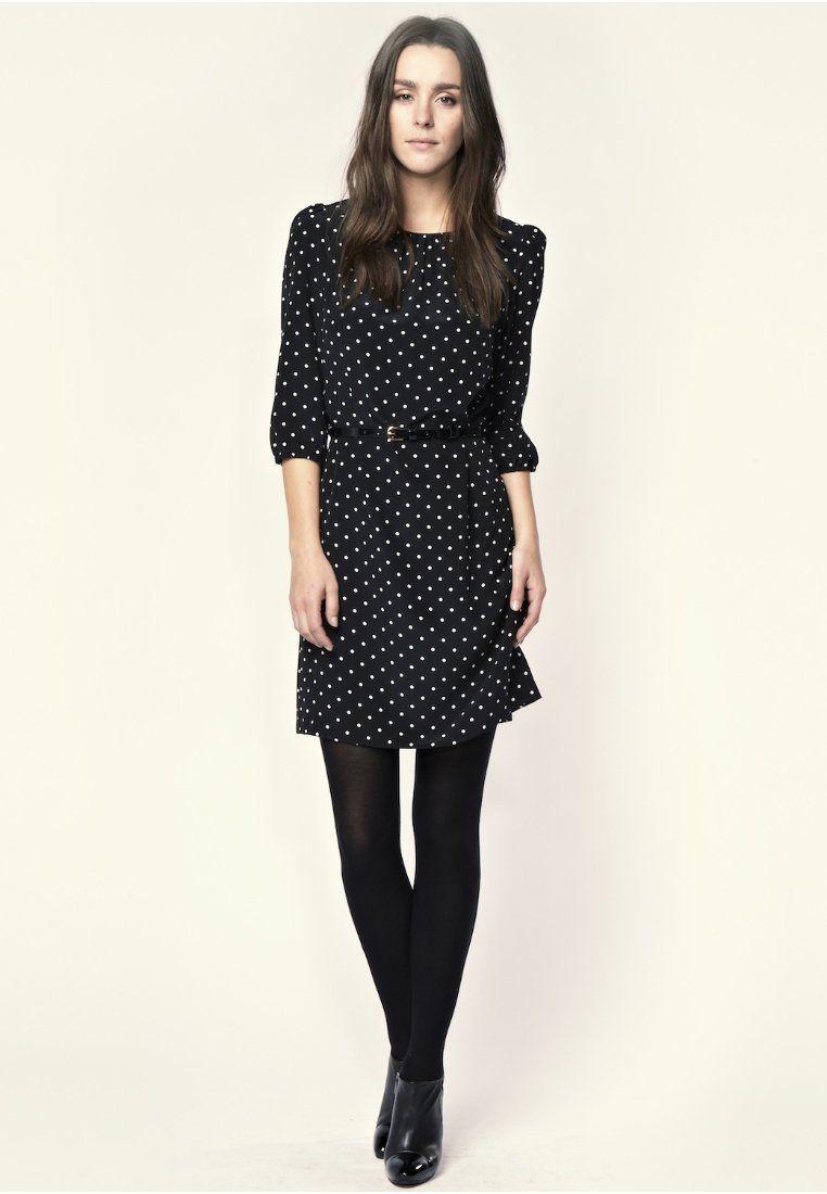 Sommerkleid - schwarz/weiß | Kleidung, Sommerkleid schwarz ...