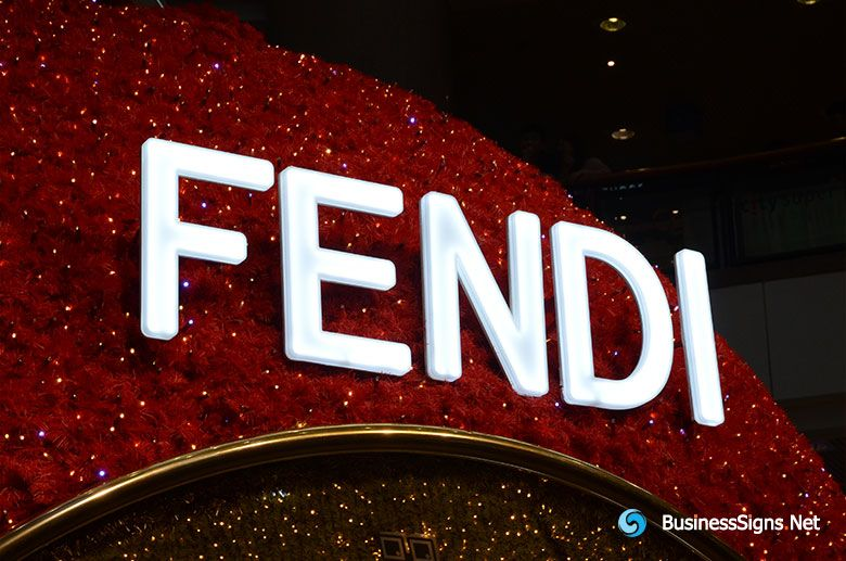 3D LED Front-lit Signs With Brushed Stainless Steel Letter