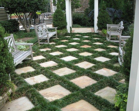 klassischer garten gestalten tipps tricks ideen pflastersteine landscaping designs pinterest. Black Bedroom Furniture Sets. Home Design Ideas