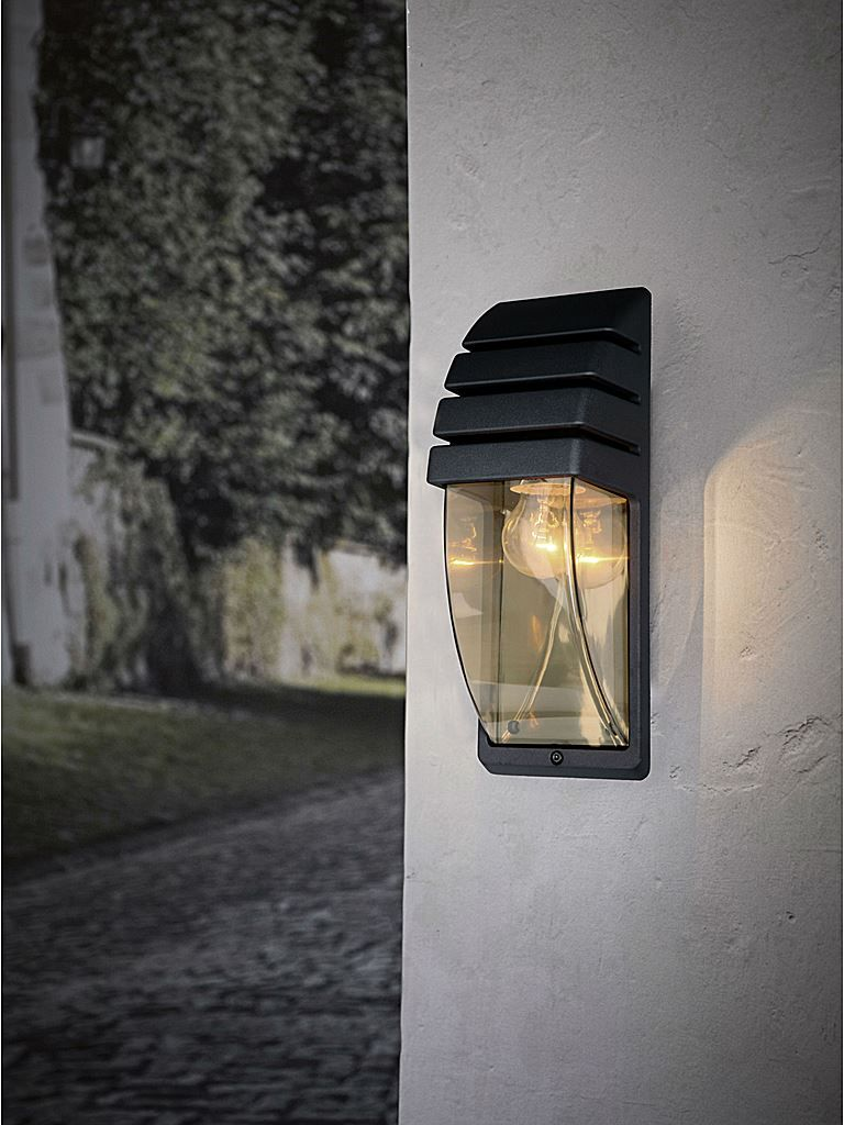 Utomhuslampa i svart - Lampekonsulenten City wall vägglampa ...