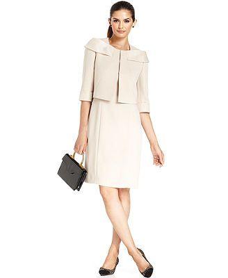 981cfff9 Tahari by ASL Suit, Three-Quarter-Sleeve Jacket & Sheath Dress ...