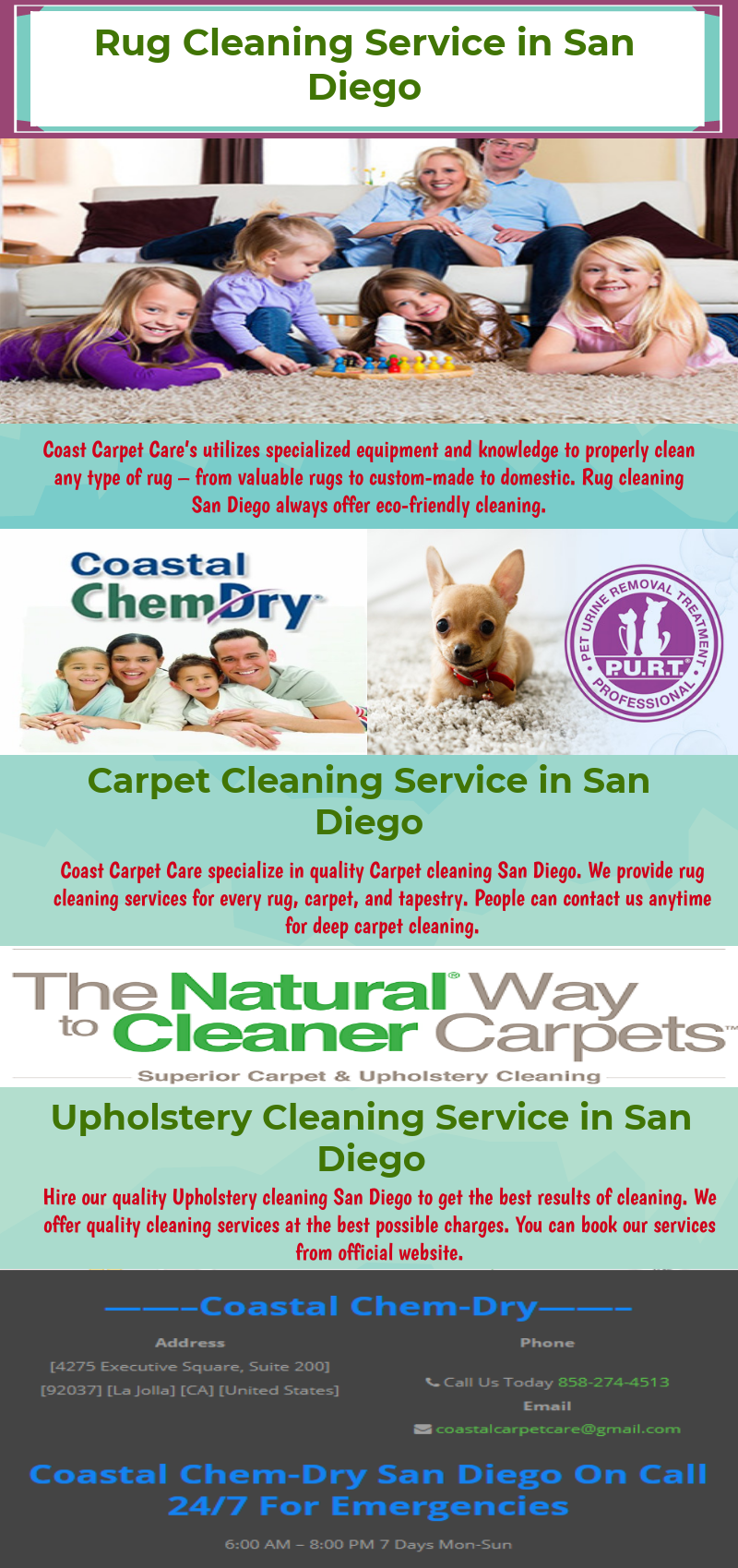 Coast Carpet Care's utilizes specialized equipment and knowledge to properly clean any type of rug – from valuable rugs to custom-made to domestic.