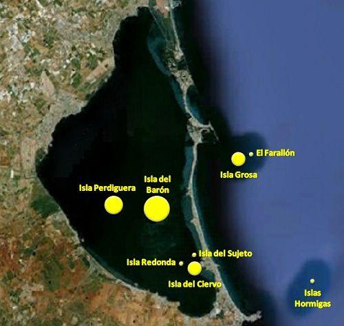 Islas De La Manga Del Mar Menor Mapa Mar Menor Murcia Islas Manga Mar Menor