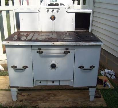 Antique 1864 Home Comfort Cook Stove Wrought Iron Range