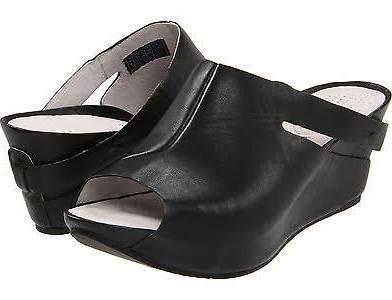 Platform Slide Wedge Sandals black - $109