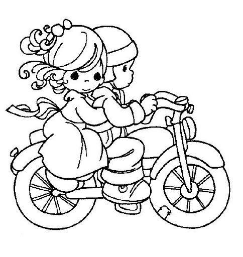 Coloriage moto occupez vos enfants en voyage coloriage imprimer coloriage v lo et moments - Dessin de motocross ...