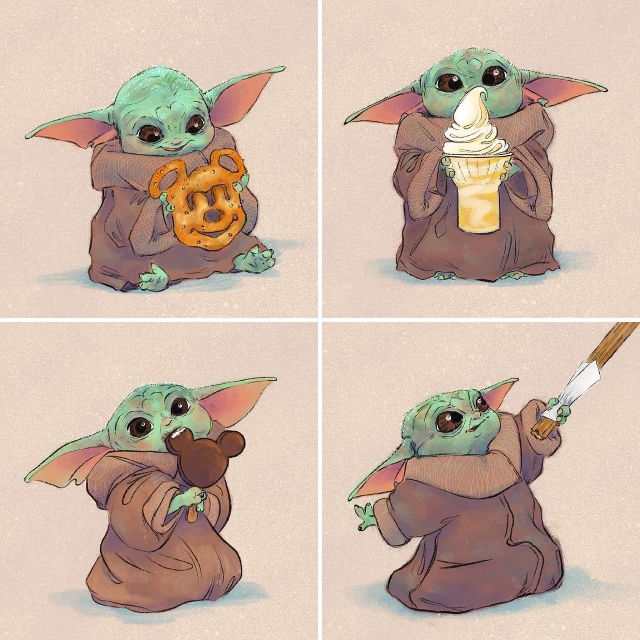 Baby Yoda In 2020 Star Wars Yoda Star Wars Art Star Wars Memes