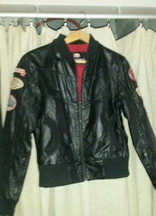 03c9bbac94cdd Veste cuir cintree style biker ecko red   VETEMENTS   Pinterest
